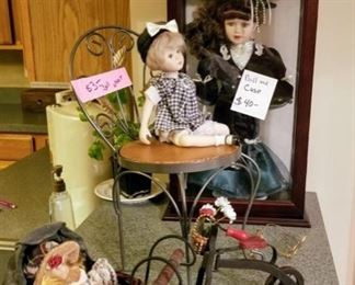 Dolls, doll furniture and accessories