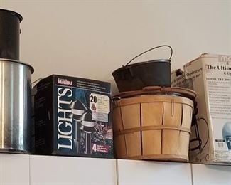 Crab Cookers, Cast Iron Dutch Oven, Bushel Basket