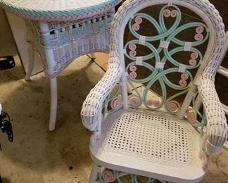 Children's White Wicker Furniture