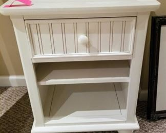 Complete White Bedroom Set.  Twin Head and Footboard, Side Rails, Dresser with Mirror, Night Stand, Desk with Hutch and Armoire.