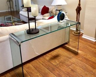 Glass Sofa/Entry Table - $95 - (52W  15D  27H)