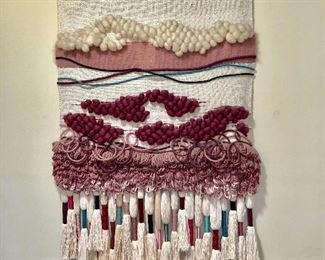 PULLED BY CLIENT - NOT FOR SALE Woven Wall Hanging - (46W  72L)