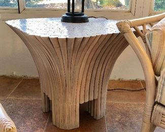 Rattan Side Table - (25W  25L  21H)
