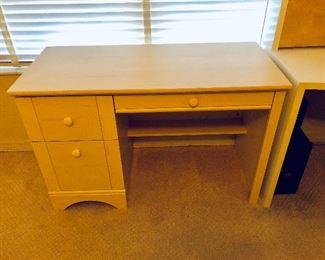 Petite Light Wood Desk - $95 -  (43-1/2W  19-1/2D  29H)