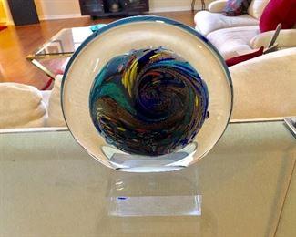 Dichroic Art Glass, Signed Rollin Karg