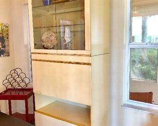 Lacquer Drop-Front Cabinet** - (36W  18-1/2D  86H)