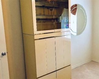 Lacquer Media/Display Cabinet** - (36W  18-1/2D  83H)