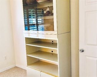 Lacquer Display Cabinet w/Cupboard** - (36W  18-1/2D  83H)