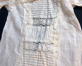 1894 Child's Christening gown belonging to Herbert J McRae .