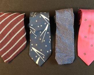 One of several lots of vintage Armani ties.