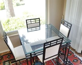 Dining Table w/ Glass Top + 4 chairs