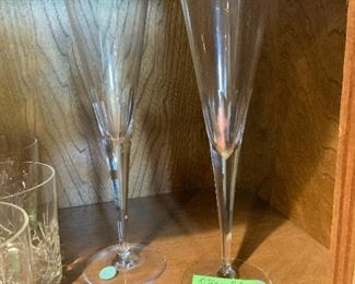 Pair Tiffany Champagne Glasses