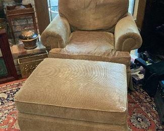 Henredon Chair & Ottoman