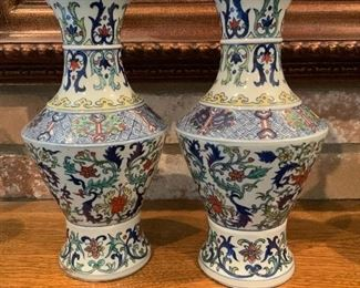 Pair Chinese Porcelain Vase