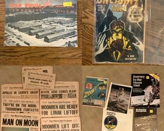 Ephemera including NASA and moon landing