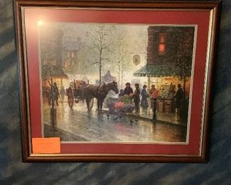 "G. Harvey ""Morning Market"" Signed & Numbered"
