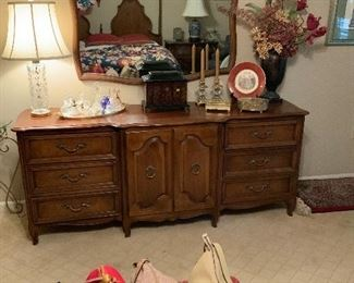 Century Furniture Triple Dresser and Mirror