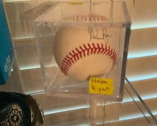 Signed Nolan Ryan Baseball