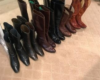 Cole Haan, Ferragamo & Vintage Western Boots
