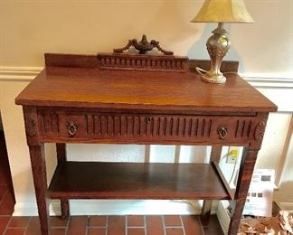 Antique Tiger Oak Table