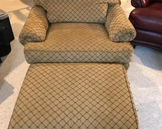Woodmark Club Chair & Ottoman - LIKE NEW