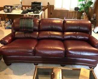 Handcock & Moore Leather Sofa - LIKE NEW