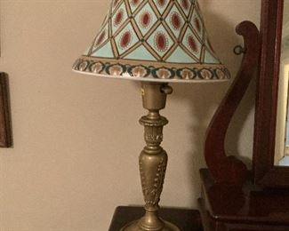 Pair of Lamps w/ Ceramic Shade
