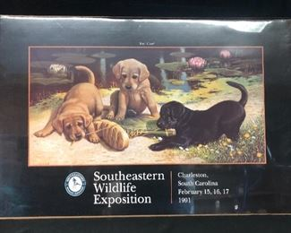 SEWE 1991 Winning Art poster. Charleston, SC