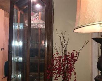 2 Very Nice lighted Curio Cabinets