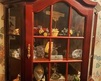 Hanging Display Case w/ Figurines