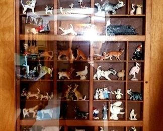 Display Case w/ Miniature Figurines