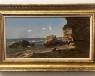 "George Innes (American, 1825 - 1894), ""Port d'Anzio, Italy"""