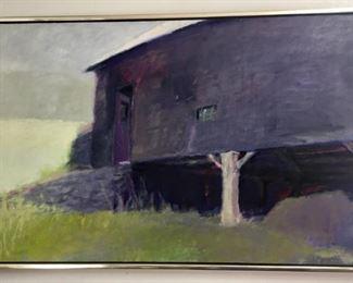"Wolf Kahn (German, 1927 - ), ""The Barn from Below"""