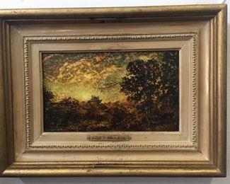"Ralph A. Blakelock (American, 1847 – 1919) , ""Sunset"""