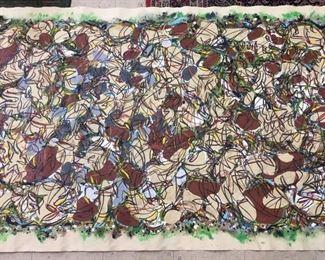 "John B. Williams, aka ""Bokie"",  - ""Llano Series"", 1998, rolled canvas, 10' x 4'"