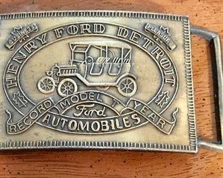Brass Ford belt buckle