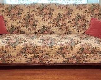 Duncan Phyfe style claw-foot sofa