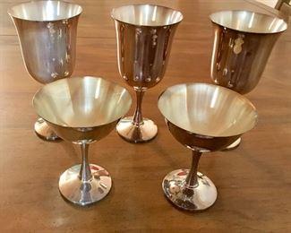 Salem silver plate goblets