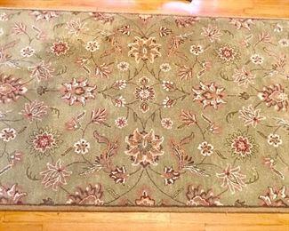Surya 5x8 sage green wool rug