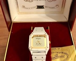 Dufonte white enamel lady's watch