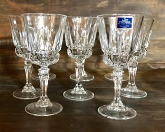 Lady Victoria crystal cordial glasses