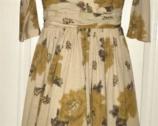 Vintage abstract floral dress