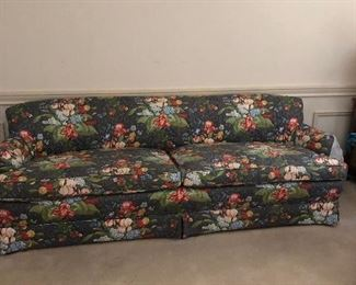Floral sofa with matching drapes