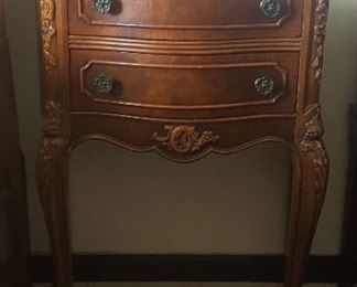 French Provincial Full Bedroom Set: (1) Nightstand