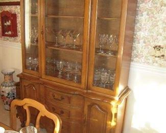beautiful Peacan china cabinet