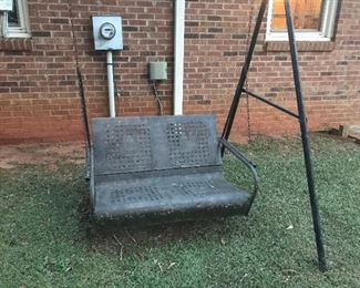 Vintage Heavy Metal Swing with Frame