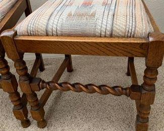 Four Barley twist chairs