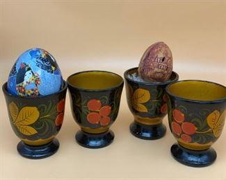 Ukrainian egg cups