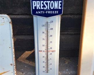 Vintage Prestone antifreeze thermometer