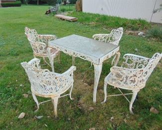 Outdoor, cast iron furniture